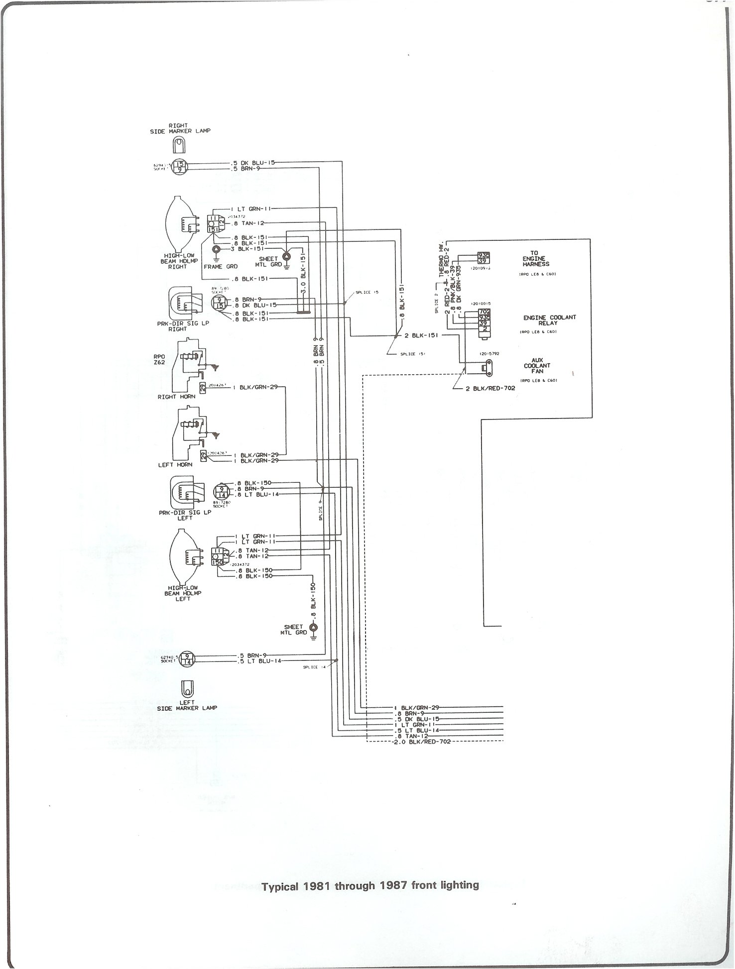 Chevrolet Wiring Color Code