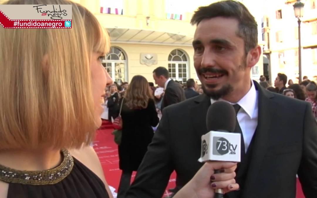 Canco Rodríquez en la Alfombra Roja del 18 Festival de Cine de Málaga