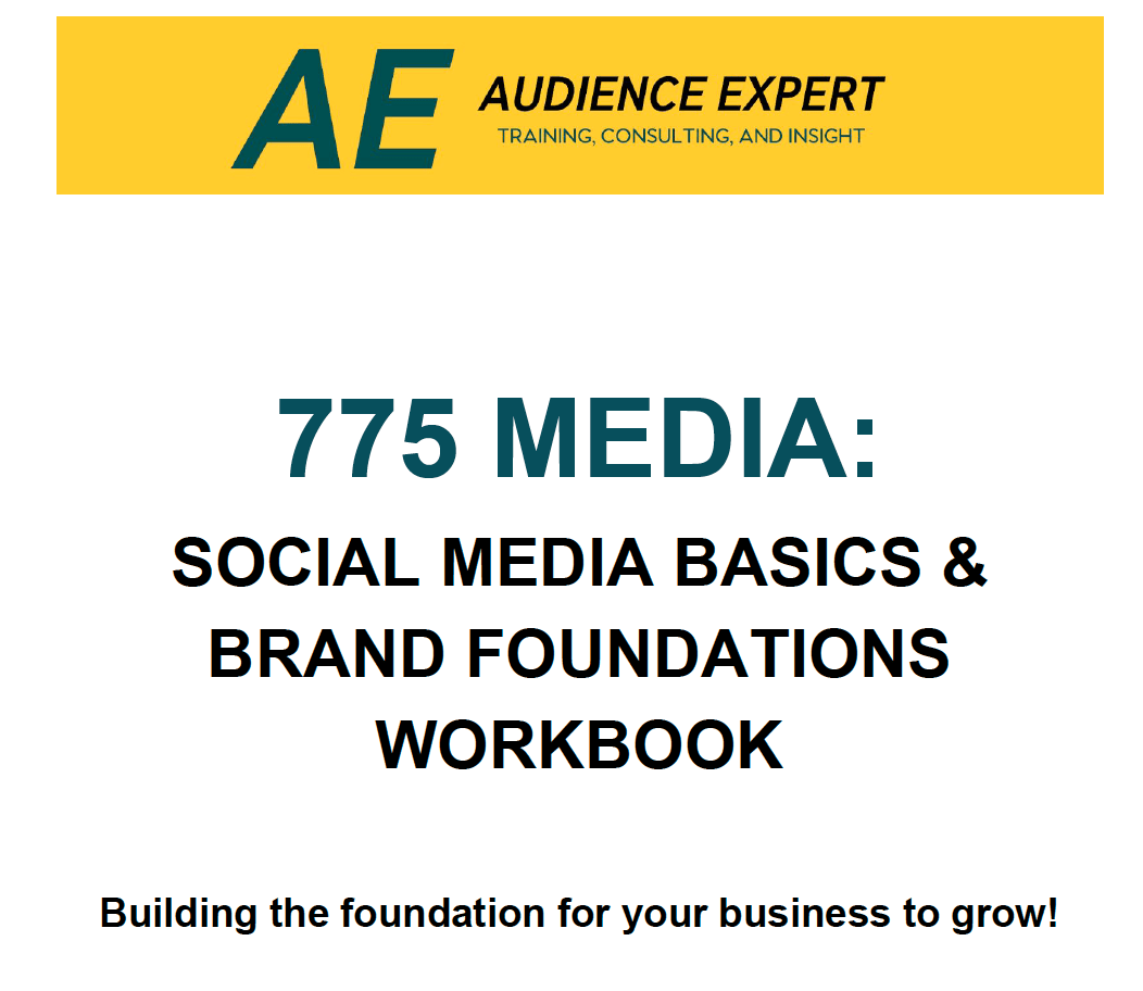 Audience Expert Social Media Workbook