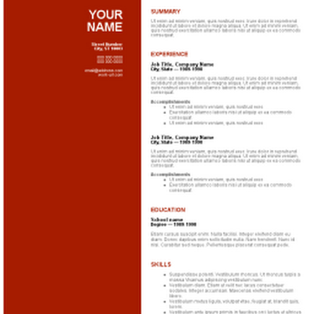 free resume templates download word cv templates free download word