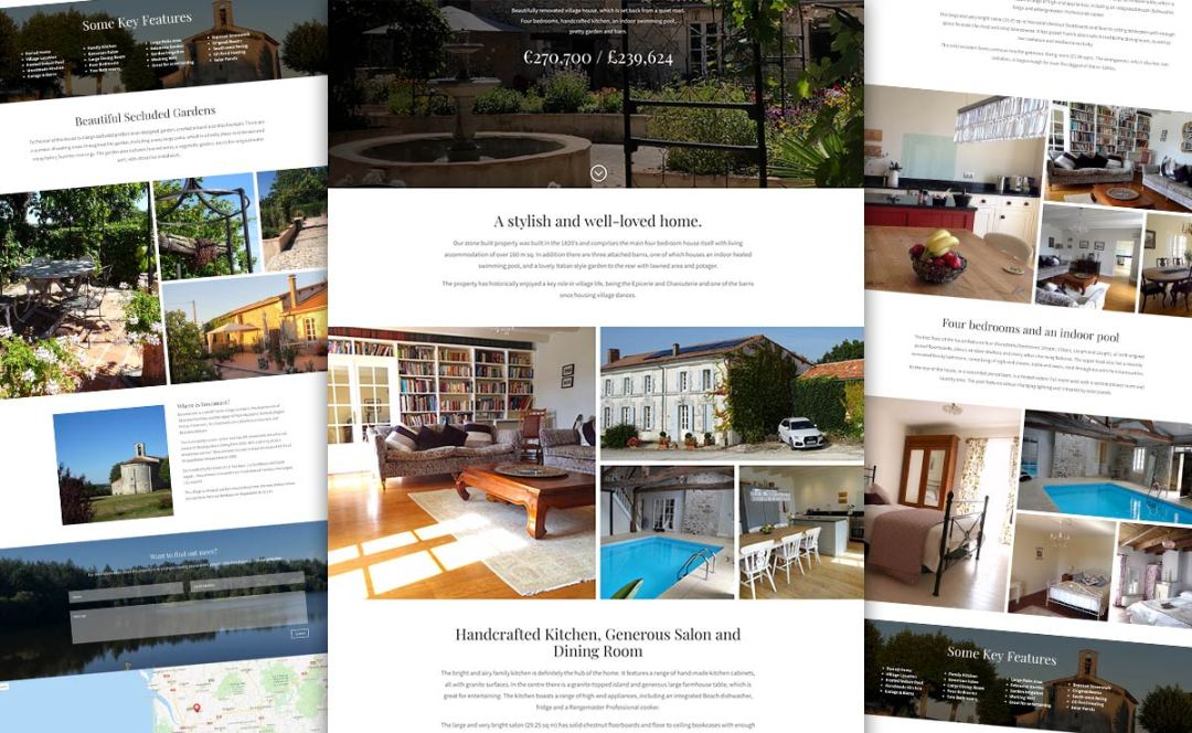 Mobile-friendly web design for a french home