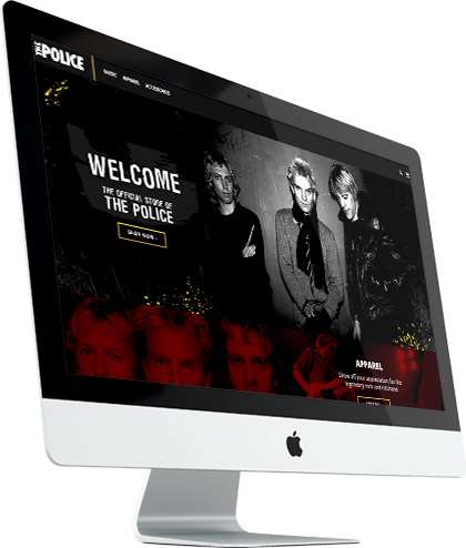 Online store design created for The Police