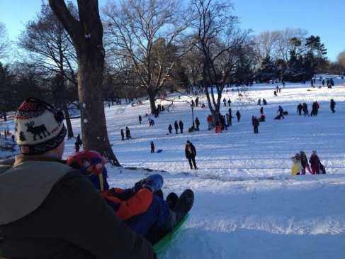 Winter wonderland in Central Park.