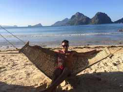 Just chilling in, Las Cabañas Beach, El Nido.