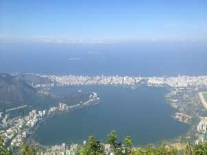 View from Christ the Redeemer, Rio.