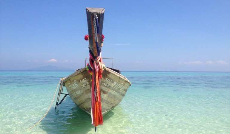 Traditional Thai boat, Bamboo Island.