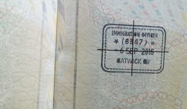 My friend's passport now carries this stamp. And all she wanted was to go on vacation...