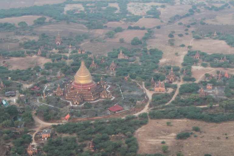 hot air balloon in Bagan