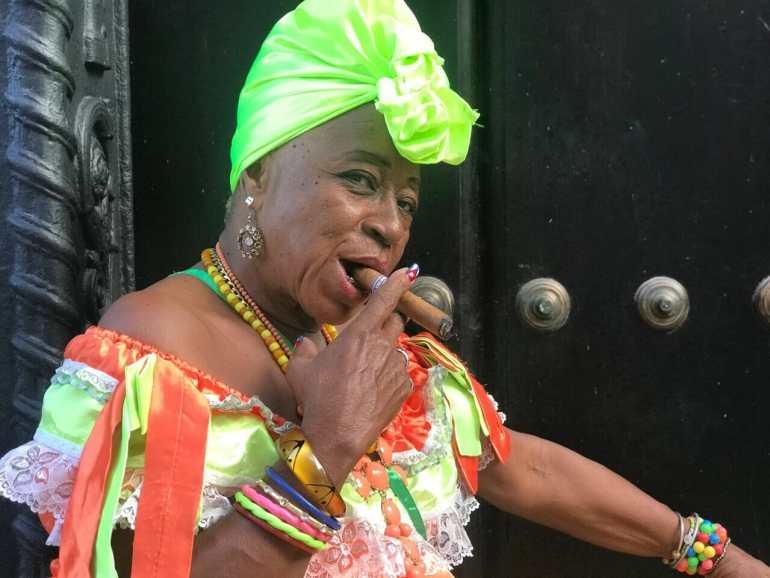 An Afro Cuban on the streets of Habana Vieja, Cuba