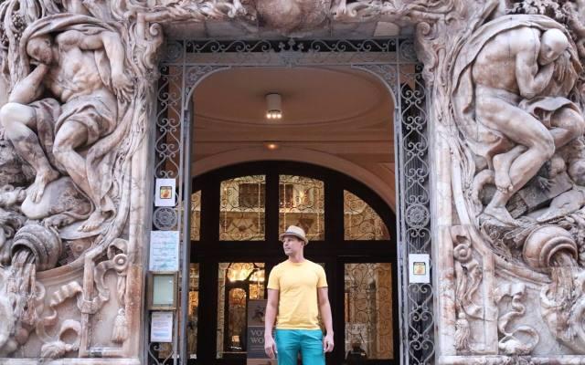 La entrada esplendorosa del Museo de Ceramica.