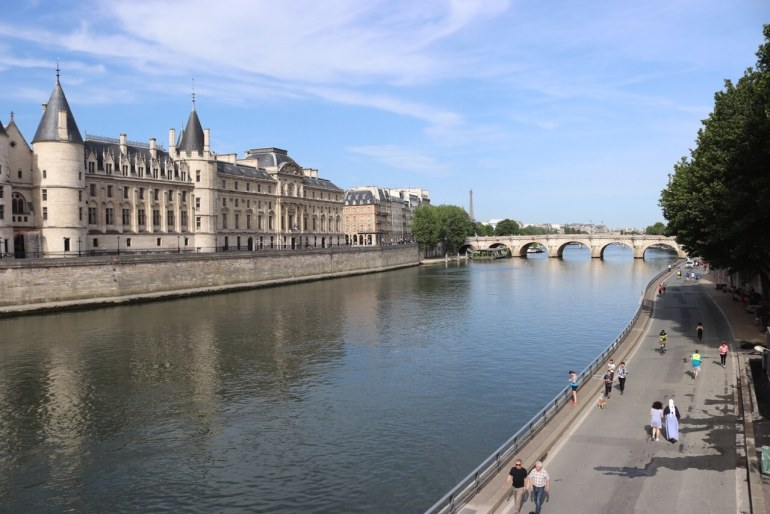 Walking on the Seine Riverbank is one of the best things to do in Paris.