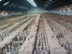 The 'aircraft hangar' of terracotta warriors