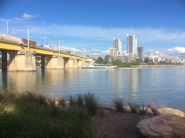 The Rivercat On Route To Sydney Olympic Park