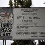 Old 1960s Caltex sign: 'Grease Plant'