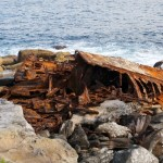 What remains of the stern of the SS Minmi