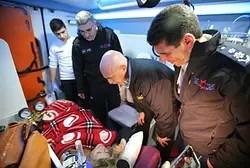 Гендиректор МДА встречает раненных израильтян
