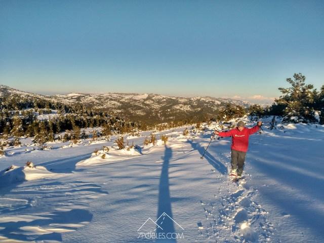 senderismo raquetas de nieve tinença de benifassa