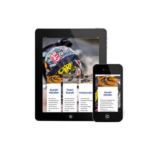 Unsere Webseiten sind dank Responsive Design auf allen Endgeräten optimal darstellbar.