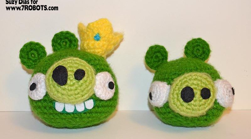 Amigurumi: Angry Birds Minion Pig and King Pig - 7 Robots ...