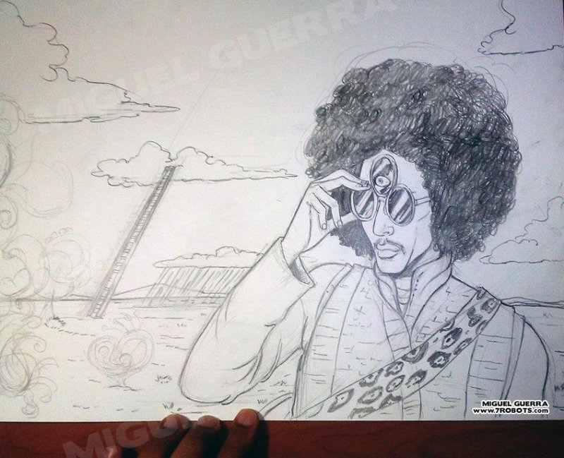 Prince Third Eye in the Sky by Miguel Guerra