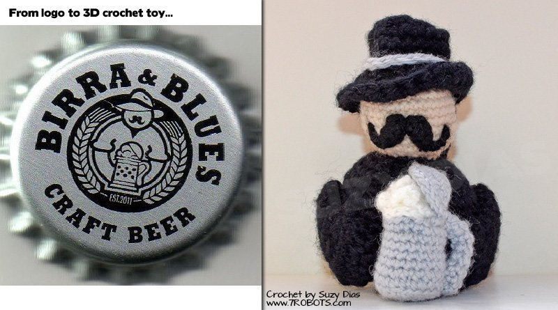 Suzy Dias Crochet, Moustache and Beer