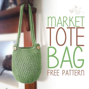 Market Tote Bag pattern by Rebecca Langford