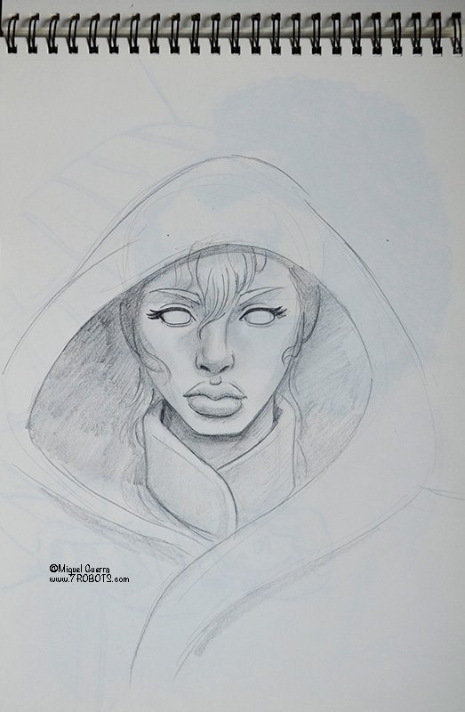 Miguel Guerra Sketch for Earth Dream and Nomad
