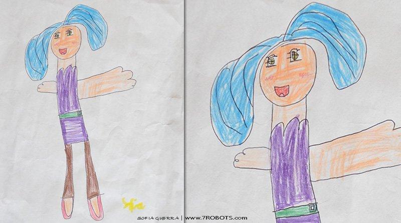 Art by Sofia Guerra (blue hair)