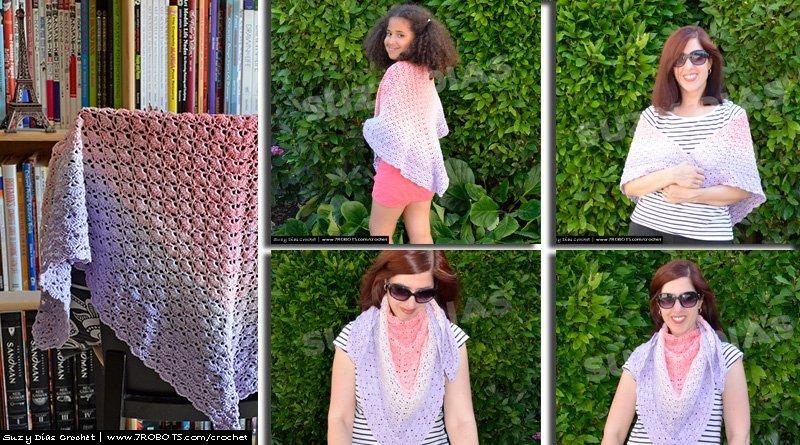 Suzy Dias Crochet Shawl Cloister Stitch