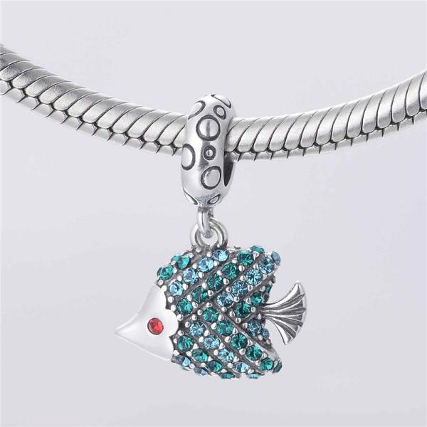 Turquoise Fish Charm - 7SEASJewelry