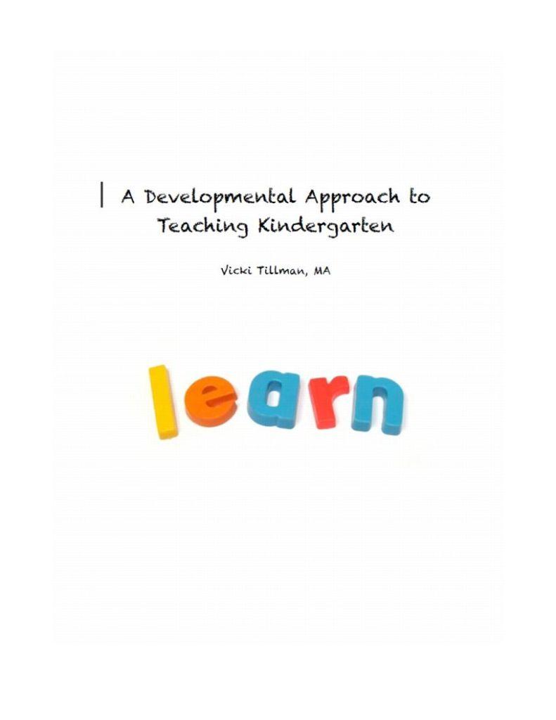 Excerpt from A Developmental Approach to Kindergarten