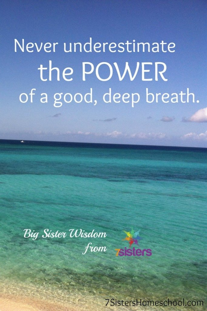 Never underestimate the power of a good deep breath