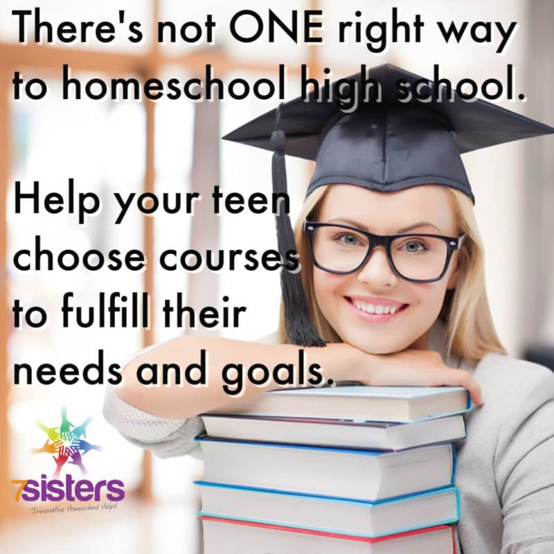 There's not ONE right way to homeschool high school. Help your teens choose courses and electives to fulfill their needs and goals. Individualize your teens' homeschool transcript!