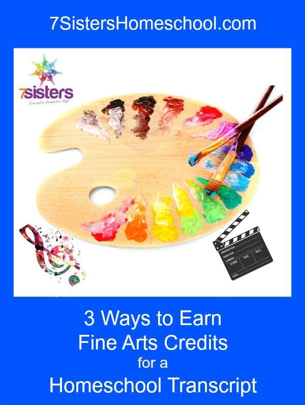 3 Ways to Earn Fine Arts Credit for a Homeschool Transcript