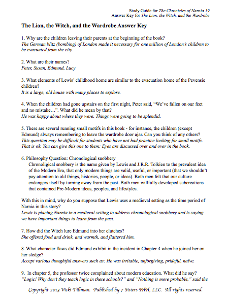 Excerpt from Chronicles of Narnia Study Guide Bundle