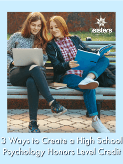 3 Ways to Create a High School Psychology Honors Level Credit for Your Homeschooler. Earn an Honors credit for the Homeschool Transcript with these tips. #HomeschoolHighSchool #HomeschoolTranscript #PsychologyCourseHomeschool
