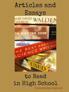 Articles and Essays to Read in High School