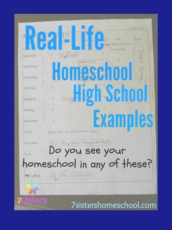 Homeschool High School Examples