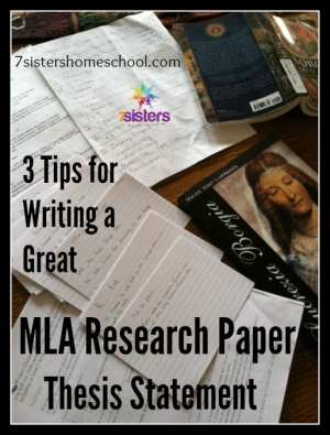 MLA research paper thesis statement
