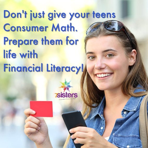 Your teens need more than Consumer Math, they need Financial Literacy. Consumer Math is needed for high school graduation in many states. Make your Consumer Math or Financial Literacy course for homeschool high school a delightful experience for your teens. #HomeschoolHighSchool #HighSchoolConsumerMath #FinancialLiteracy #HomeschoolFinancialLiteracyCourse