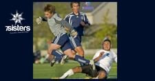 What are Extracurriculars for Homeschool High School 7SistersHomeschool.com #HomeschoolExtracurriculars #HomeschoolPlanning #HomeschoolHighSchool This photo shows two soccer players leaping over a competitor to keep from tripping.