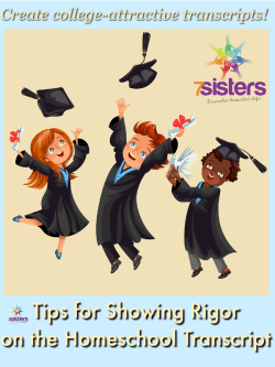 Tips for Showing Rigor on the Homeschool Transcript 7SistersHomeschool.com Homeschool high schoolers can create a college-attractive transcript by increasing rigor of key courses.
