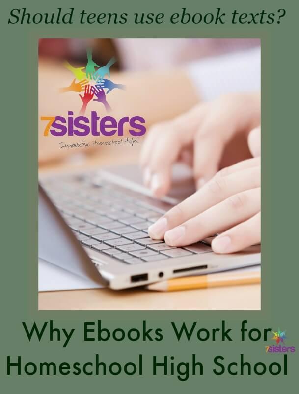 Ebooks work well for homeschool high school curriculum
