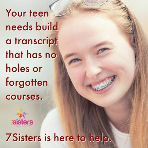 Help your teens build a transcript that has no holes or forgotten courses