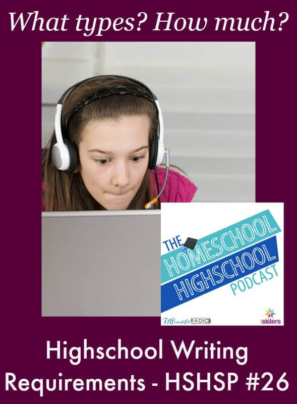 HSHSP: Writing Requirements for Homeschool Highschool