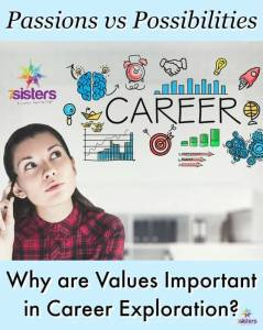 What are values in Career Exploration and why are they important? 7SistersHomeschool.com
