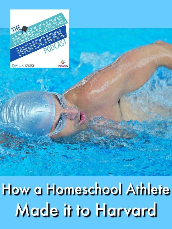 Podcast Homeschool Swimmer Goes to Harvard