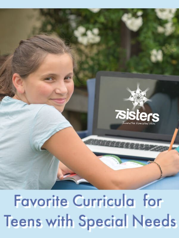Favorite Curricula for Teens with Special Needs. Suggestions from homeschool parents for curriculum choices. #HomeschoolHighSchool #homeschoolspecialneeds #HomeschoolLearningDisabilies #HomeschoolLearningDifferences