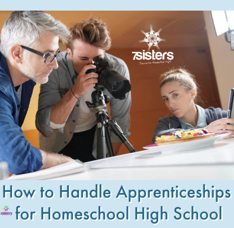 How to Handle Apprenticeships for Homeschool High School. Internships and Apprenticeships help teens clarify careers they will love and those that will be a bad fit. #HomeschoolHighSchool #HomeschoolCareerExploration #HomeschoolApprenticeships #ApprenticeshipsForTeens #CareerExploration