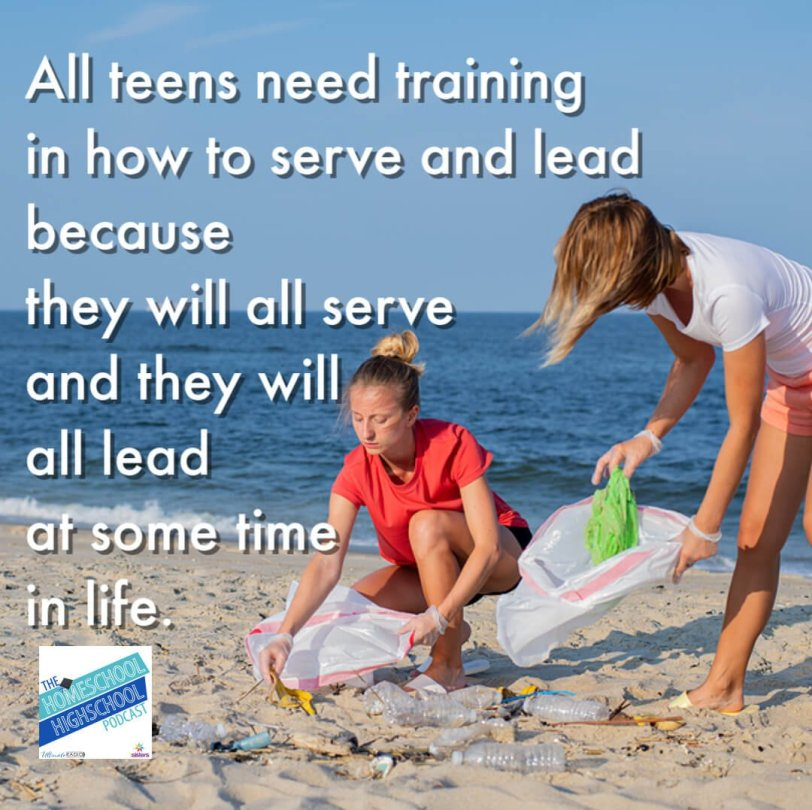 SALT Teams: Service and Leadership Teams for homeschool high schoolers. All teens need training in how to serve and lead because they will all serve and they will all lead at some time in life.